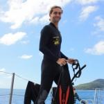 Preparing to snorkel