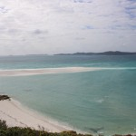 Whitehaven Beach with Haslewood Island in the distance