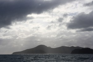 Cloudy sky over the Whitsundays