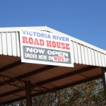 Victoria River Roadhouse - the wife seems determined :)