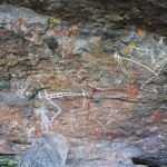 Aboriginal rock art at Nourlangie Rock