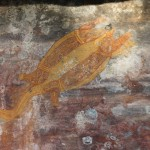 Aboriginal rock art: Longneck Turtle