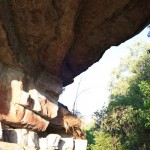 Rock ledges with many rock paintings at Ubirr