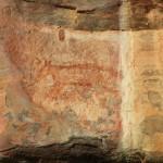 Aboriginal rock art: a thylacine a.k.a. Tasmanian Tiger!