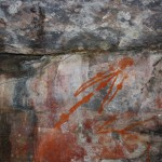 Aboriginal rock art: most likely a human with joint disease