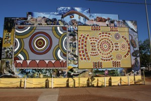 Aboriginal mural in Tennant Creek