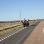 Crossing the outback on a bicycle - brave!