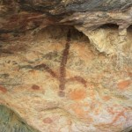 Aboriginal rock art close to the exit of Tunnel Creek