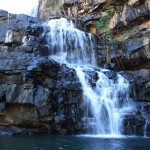The waterfall at Adcock Gorge