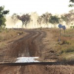 Dirty roads, many floodways and dust in the air