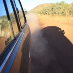 LandCruiser throwing up dust