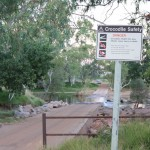 Crocodile crossing - warnings like these are common in the Top End