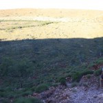 Walking down into the Wolfe Creek crater