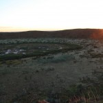 Sunset over Wolfe Creek