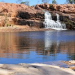 Waterfall and waterhole at Champagne Springs
