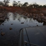 Rivercrossing - very brave Landcruiser