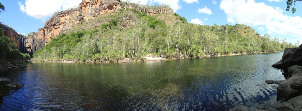 Panorama of Jim Jim Falls Gorge