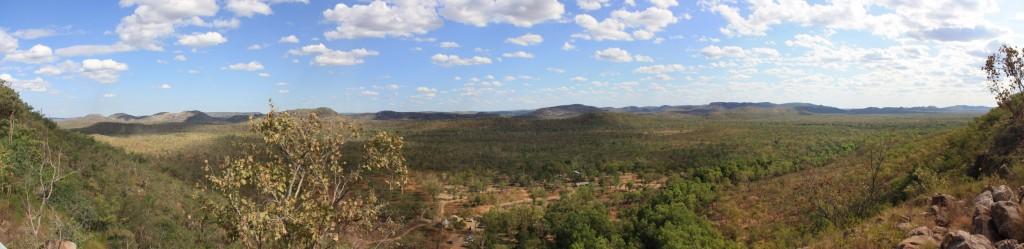 Panorama view on the walk to Upper Rock Pools at Gunlom Falls