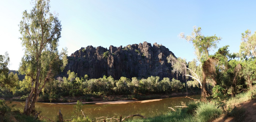Panorama view of Windjana Gorge