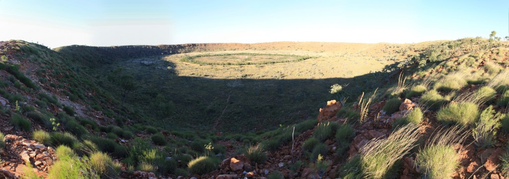 Panorama of the Wolfe Creek crater from the rim