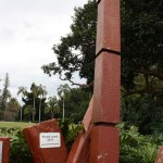 Flood level markers in the Royal Botanic Garden