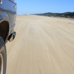 Beach driving on Fraser Island