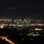 Brisbane at night from Mt Coo-Tha