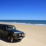 LandCruiser at Cape Sandy, the northernmost tip of Fraser Island
