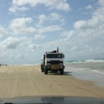 "Road trains on Fraser Island ""highways"""