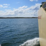 On the way to Fraser Island via car ferry