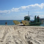 Car ferry departing from Inskip Point