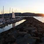 Sunset over Abel Marina