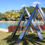 Airlie Beach and its hotel buildings