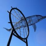 Dolphin sculpture close to the Urangan Pier