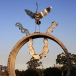 Sculpture in front of the Brolga Theatre Convention Center