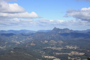 Mt Warning, an ancient volcano