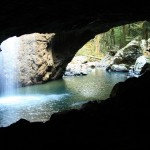 The Natural Bridge from inside the cave