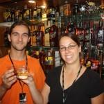 Rum tasting at the Bundaberg distillery - prost!