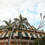 Sugar cane fountain sculpture, Bundaberg